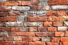 Ziegelstein in der Wand Stockbild