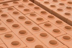 Ziegelstein des roten Lehms Lizenzfreies Stockfoto