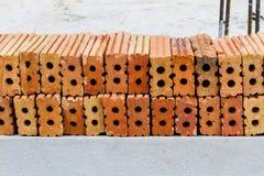 Ziegelstein des roten Lehms Lizenzfreie Stockfotos