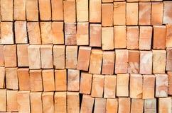 Ziegelstein des roten Lehms Stockfotos