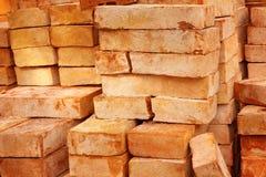 Ziegelstein des roten Lehms Lizenzfreie Stockbilder