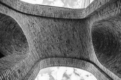 Ziegelstein durch Ziegelstein Stockbild