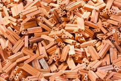 Ziegelstein für Aufbau Lizenzfreies Stockfoto