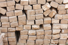 Ziegelstein für Bau Stockfoto