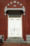 Ziegelstein-Gebäude-Tür Stockbilder