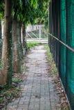 Ziegelstein-Gehweg Stockfoto