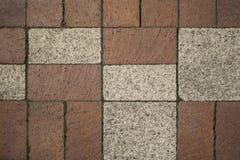 Ziegelstein-geometrischer Bürgersteig Lizenzfreie Stockbilder