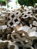 Ziegelstein gepflasterter Gehweg Lizenzfreie Stockfotografie