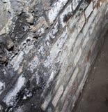 Ziegelstein geschmolzen von der Hitze Lizenzfreies Stockbild