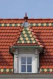 Ziegelstein-gotisches Dach Stockbild