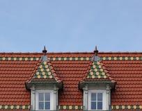 Ziegelstein-gotisches Dach Stockfotos