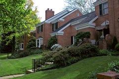Ziegelstein-Häuser stockfoto