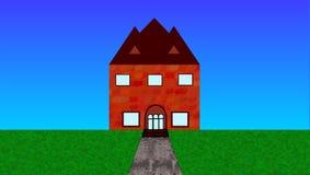 Ziegelstein-Haus Lizenzfreie Stockfotos