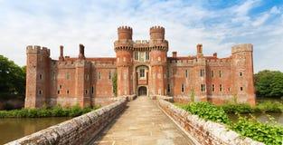 Ziegelstein Herstmonceux-Schloss in Ost-Sussex 15. Jahrhundert Englands Stockfoto