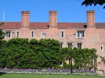 Ziegelstein, Hochschulgebäude, Cambridge Lizenzfreies Stockfoto