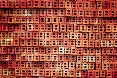 Ziegelstein im roten Ton lizenzfreies stockbild