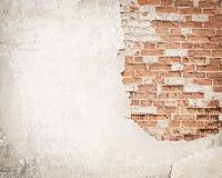 Ziegelstein, konkreter Schmutzwandhintergrund Lizenzfreies Stockfoto