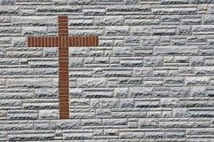 Ziegelstein-Kreuz Lizenzfreies Stockfoto