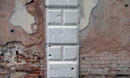 Ziegelstein mit Stein Lizenzfreie Stockbilder