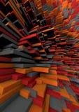 Ziegelstein-orange Hintergrundchaos stock abbildung