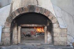 Ziegelstein-Pizza-Ofen Stockfoto