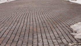 Ziegelstein-Straße Stockfotos