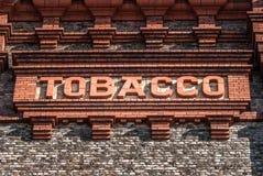 Ziegelstein-Tabak-Zeichen Stockfoto