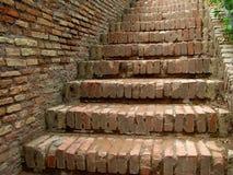 Ziegelstein-Treppen stockbilder