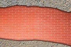 Ziegelstein und Betonmauer Stockfoto