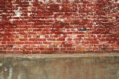 Ziegelstein und Betonmauer Lizenzfreie Stockfotos