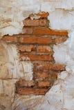 Ziegelstein und Gips auf Gebäude Lizenzfreie Stockfotografie