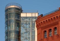 Ziegelstein und Glas Lizenzfreie Stockfotografie