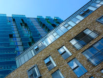 Ziegelstein- und Glasabstraktion Lizenzfreies Stockbild