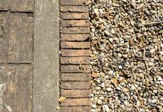 Ziegelstein- und Steinhintergrund Stockfotografie