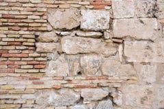 Ziegelstein-und Steinwand-Hintergrund Lizenzfreies Stockbild