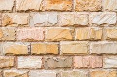 Ziegelstein-und Steinwand-Hintergrund Lizenzfreies Stockfoto