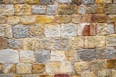 Ziegelstein-und Steinwand-Hintergrund Stockbilder