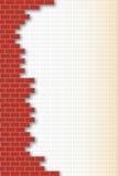 Ziegelstein-Wand Hintergrund lizenzfreie abbildung
