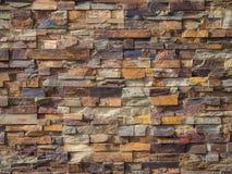Ziegelstein-Wandhintergrund Stockfotografie