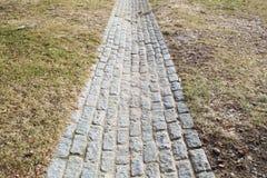 Ziegelstein-Weg Stockbild