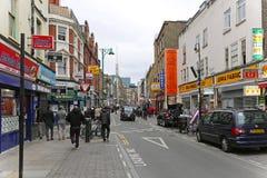 Ziegelstein-Weg London stockbilder