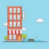 Ziegelstein-Wohnung Stockfoto
