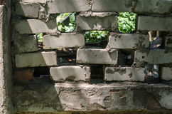 Ziegelstein-Zaun Stockbild