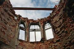 Ziegelstein zerstörtes wall4 Stockfotografie