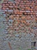 Ziegelstein-Zusammenfassungsnostalgie der Wand alte Lizenzfreies Stockbild