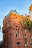 Ziegelsteinarchitektur der Golutvin-Manufaktur in Moskau, Russland Lizenzfreies Stockbild