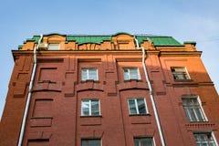 Ziegelsteinarchitektur der Golutvin-Manufaktur in Moskau, Russland Stockfoto