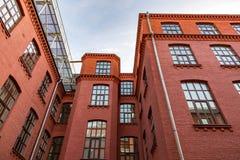 Ziegelsteinarchitektur der Golutvin-Manufaktur in Moskau, Russland Stockbild
