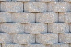 Ziegelsteinbetonmauer Stockfoto