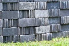 Ziegelsteinblock. Stockfotografie